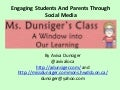 Engaging students and parents through social media