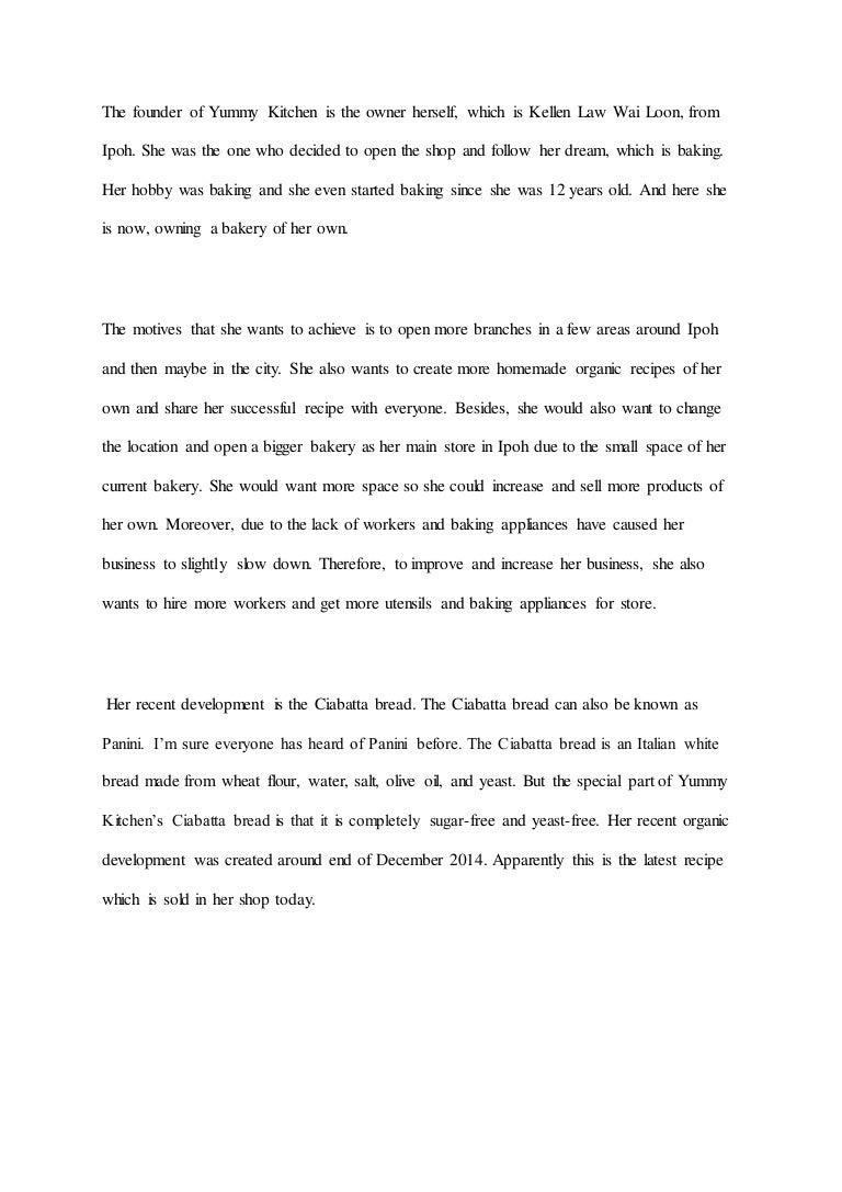 Eng essay yummy kitchen (jin)