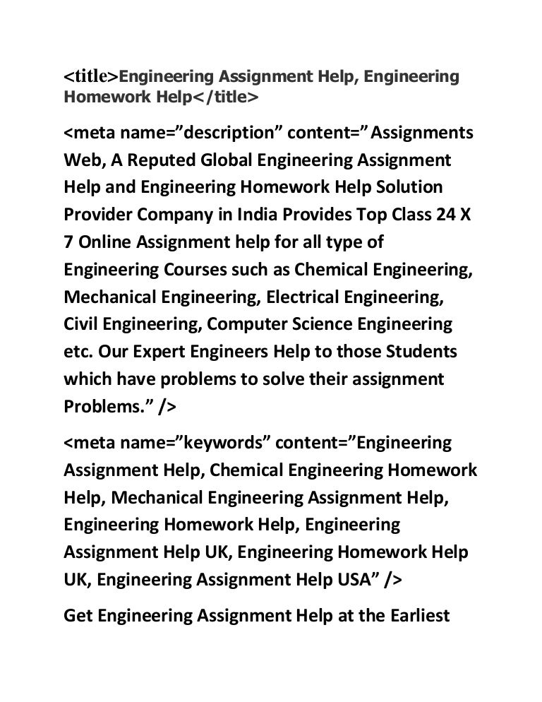 engineering assignment help engineering homework help chemical engi