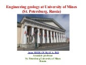 Engineering Geology in St. Peterburg University of Mines