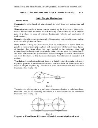 Engineering mechanics iii-lecture_notes_of_meen-321_kinematics_of_machinery_handouts_to_students-libre
