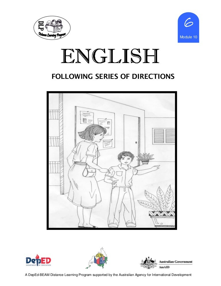 English 6dlp10followingseriesofdirections – Following Directions Worksheet Trick