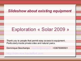 Solar Exploration France 2009