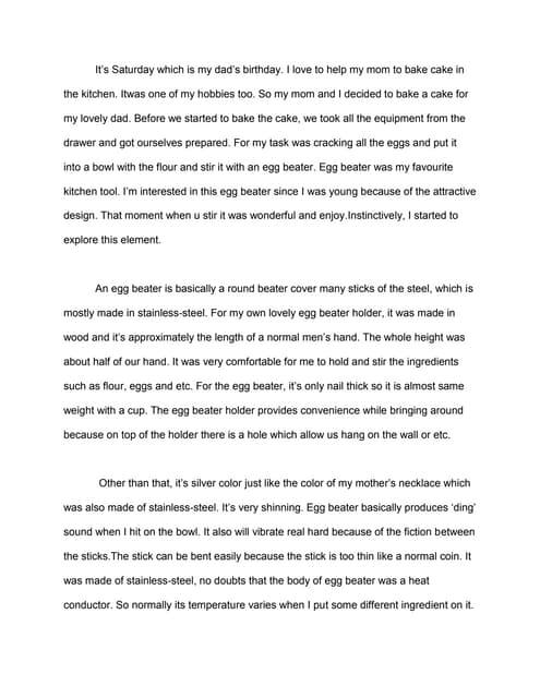 Introduction Writing Narrative Essay
