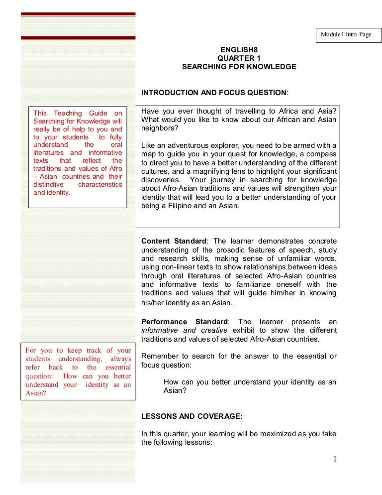 English 8 learning module quarter 1