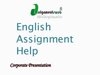 Help with English Assignment?
