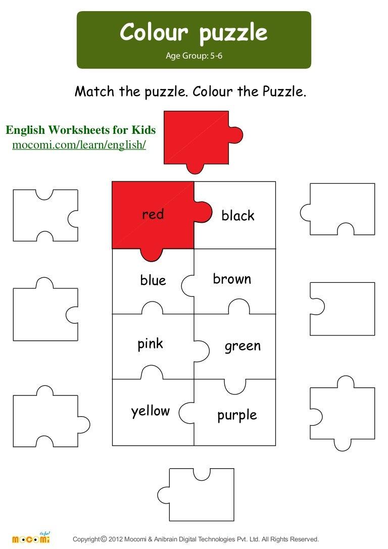 - Colour Puzzle – English Worksheets For Kids – Mocomi.com