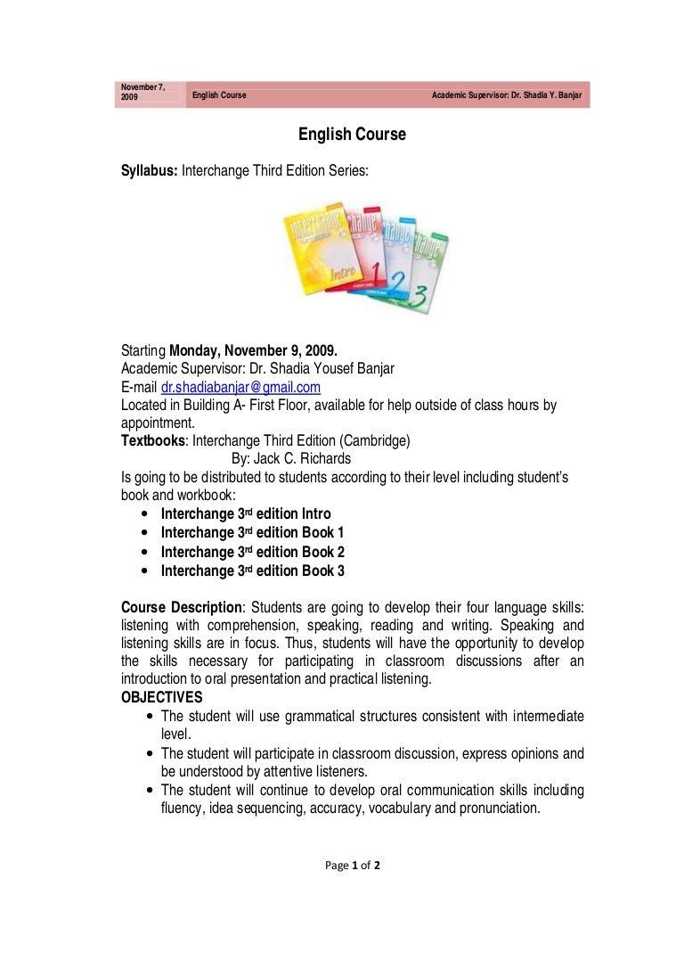 Workbooks interchange fourth edition online workbook : englishcoursebydr-shadiayousefbanjar-100119044504-phpapp01-thumbnail-4.jpg?cb=1263876531
