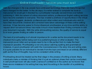 Bored? Love English? Would you like to proofread by essay?