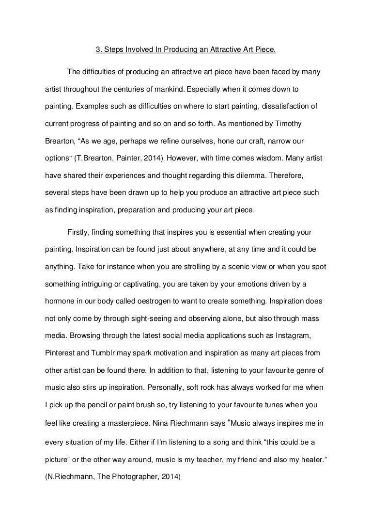 essay art cover letter first person essay example example of a  eng english essay art piece