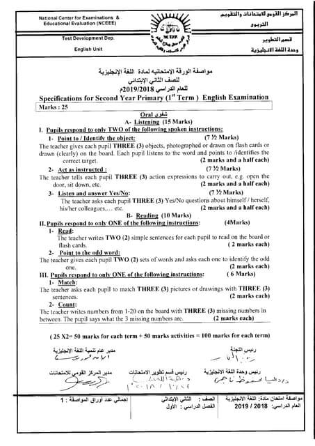 English exam paper_6prim_t1