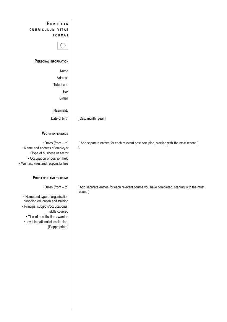 Recent Format Of Cv Sasolo Annafora Co