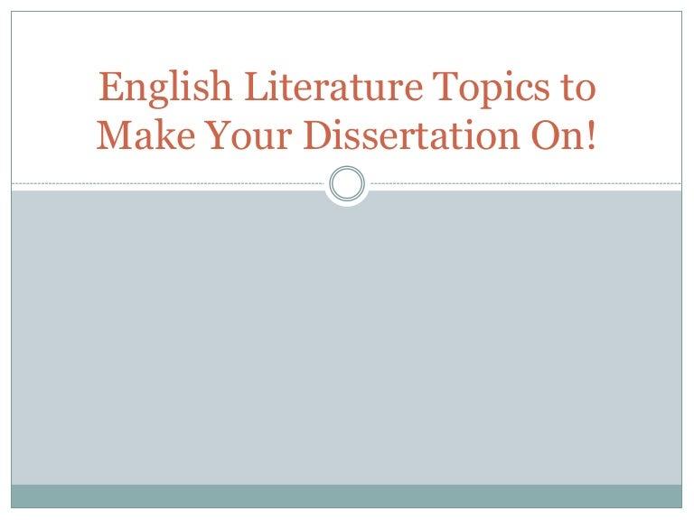 English literature dissertation 9th grade research paper topics