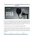 English to arabic voice over  profitable marketing tool to find best voice over