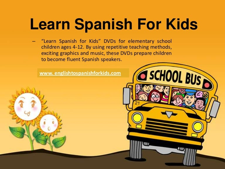 spanish for kids that learning spanish at home., Modern powerpoint