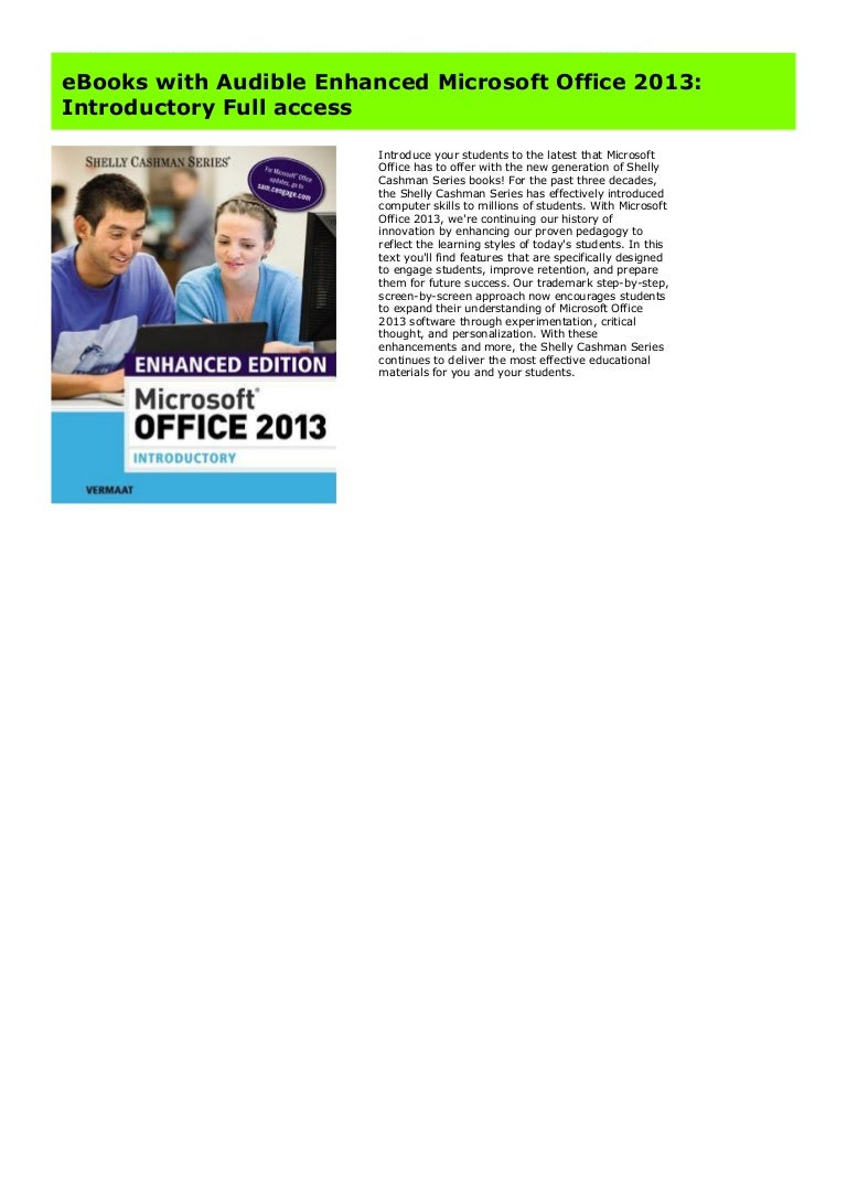 Introductory Microsoft/® Office 2013
