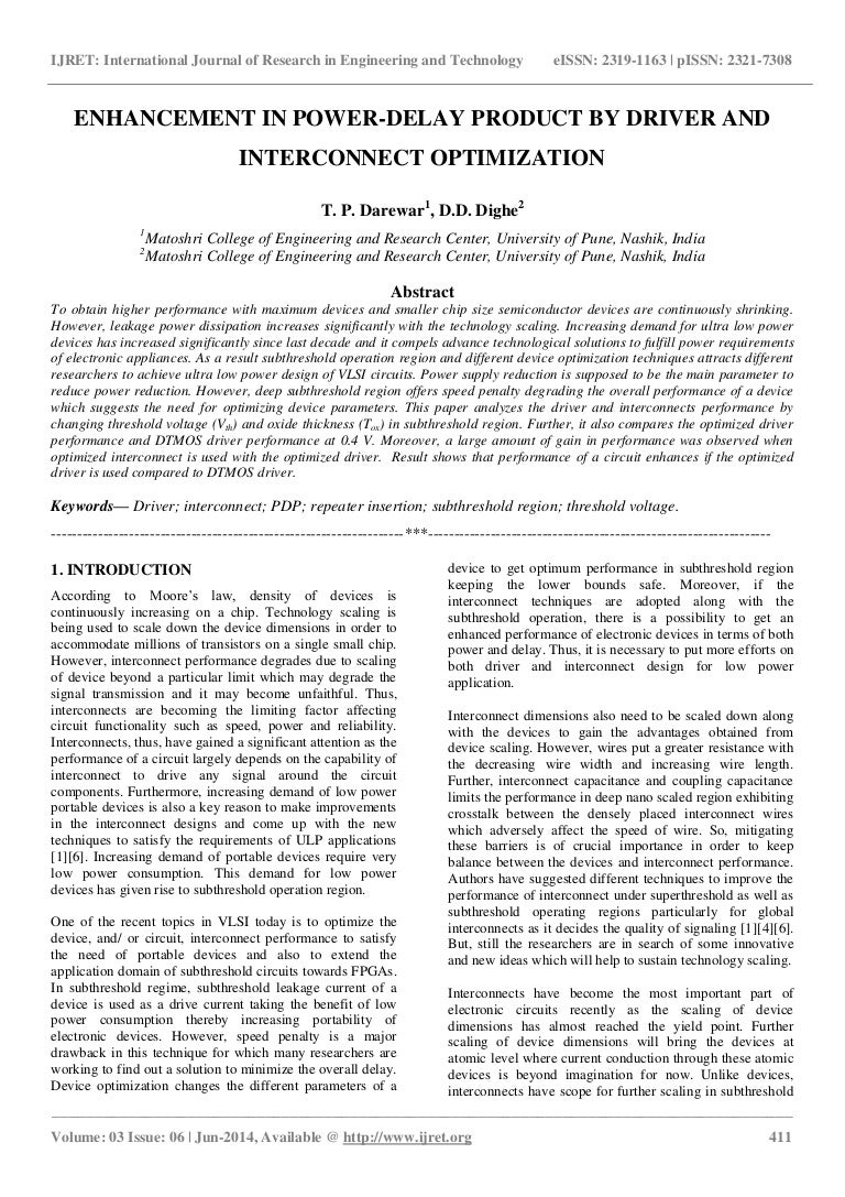 Enhancement In Power Delay Product By Driver And Interconnect Optimiz Time Circuit Related Keywords Suggestions