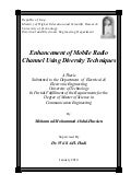 Enhancement of Mobile Radio Channel Using Diversity Techniques