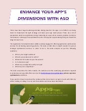 Enhance Your App's Dimensions with ASO