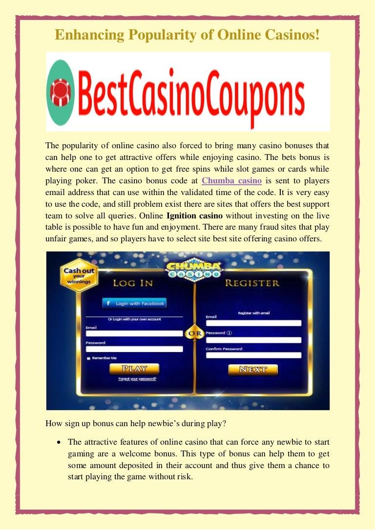 Enhancing Popularity Of Online Casinos