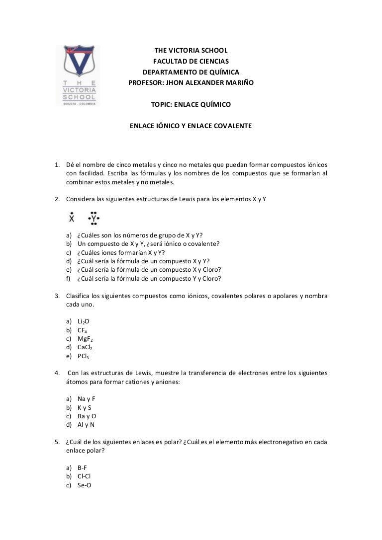 Dorable Fórmulas Para Compuestos Iónicos Hoja De Cálculo Motivo ...
