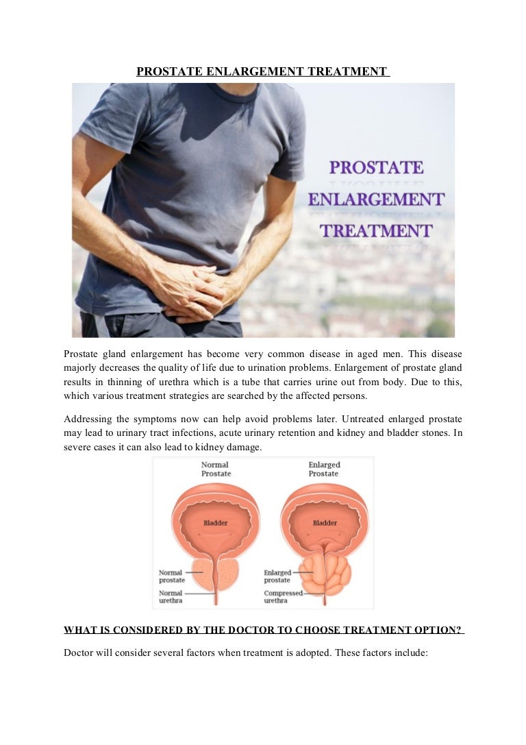 t therapy for enlarged prostate