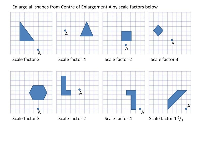 Enlargements worksheet – Scale Drawing Worksheet