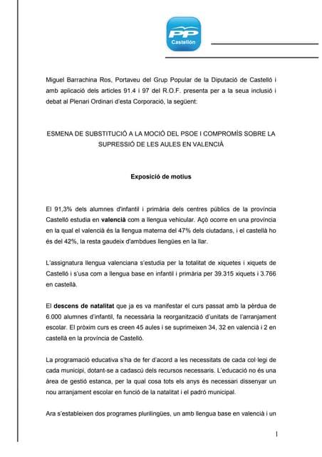 Enmienda valenciano 29.04.14