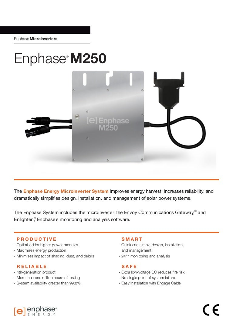 Enphase Me250 Data Sheet En Apac Solar Microinverter Panel System Design Electronic Products