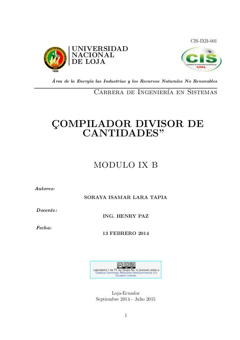 Compilador (divisor de cantidades )