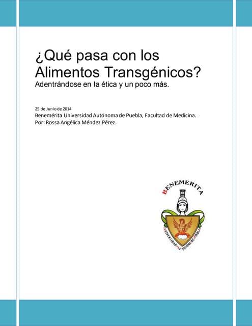 ¿Qué pasa con los Alimentos Transgénicos?: Adentrándose en el etica y un poco más.