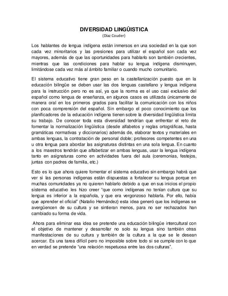 un ensayo en espanol