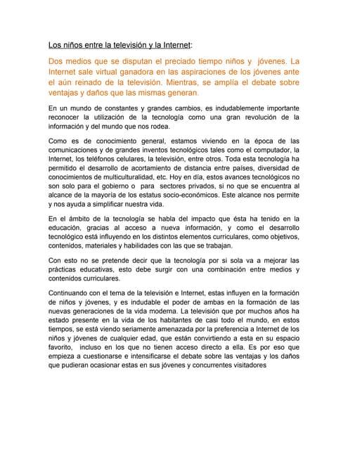 Internet technology essay