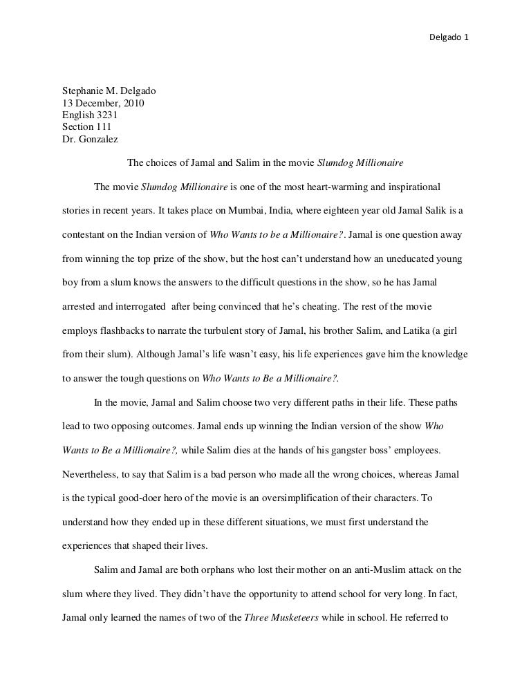 Essay on slums