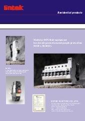 Entek Miniature Circuit Breakers (MCBs) and RCBOs (RCD/ MCB)