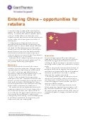 Entering China - opportunities for retailers