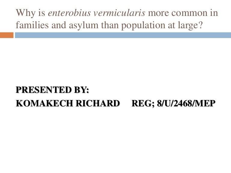 enterobius vermicularis a bisayában