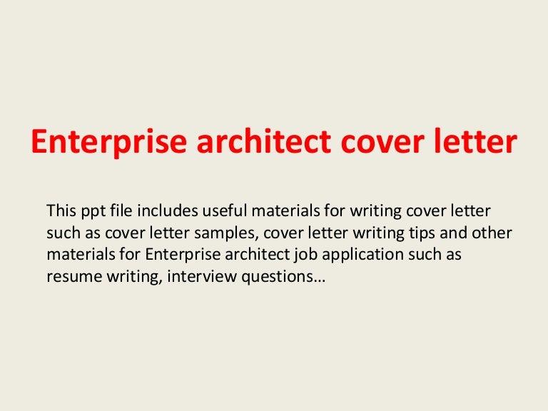 Good Data Architect Cover Letter