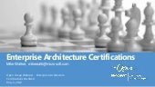 Enterprise Architecture Certifications Distilled