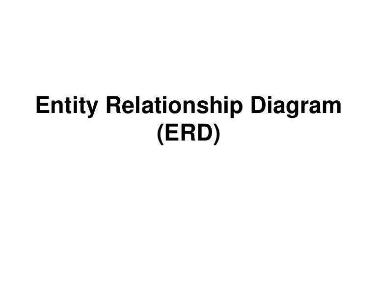 Entity Relationship Diagram Pdf