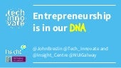 Entrepreneurship is in Our DNA