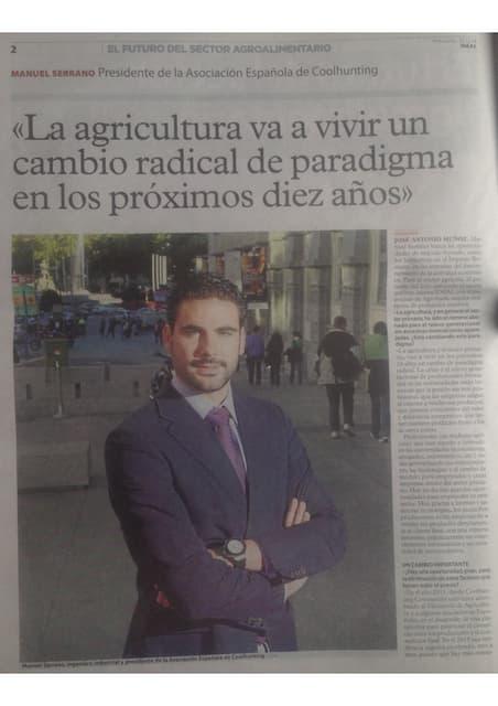 Entrevista a Manuel Serrano Ortega sobre las Tendencias en el Sector Agroalimentario