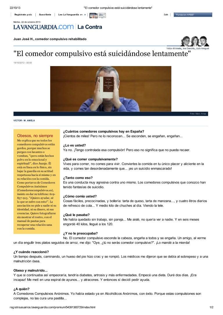 Entrevista a Juan Jose - comedor compulsivo anonimo