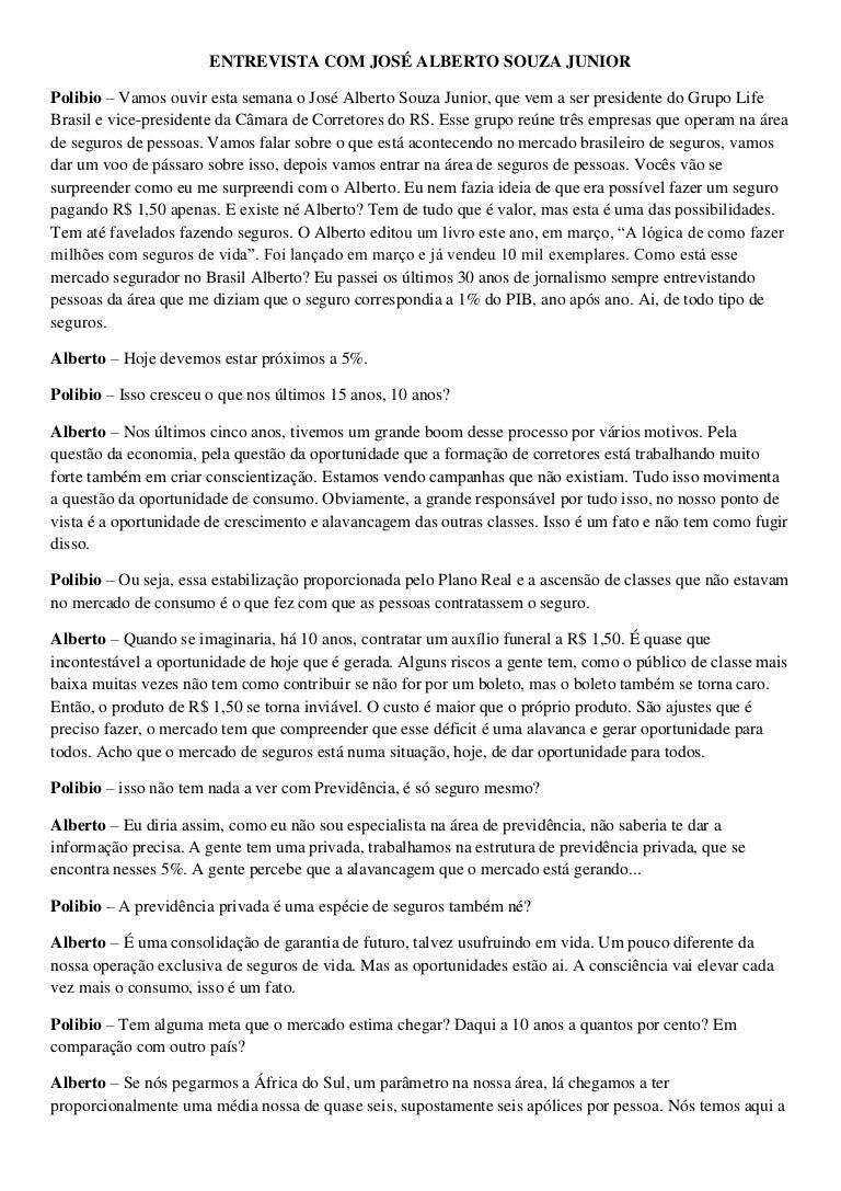 Entrevista alberto souza junior