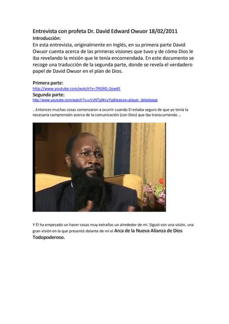 Entrevista con david owuor