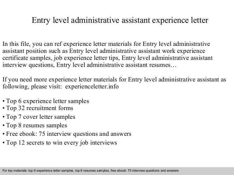 cover letter examples for entry level