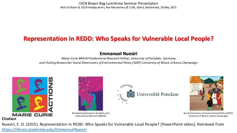 Representation in REDD: Who Speaks for Vulnerable Local People?