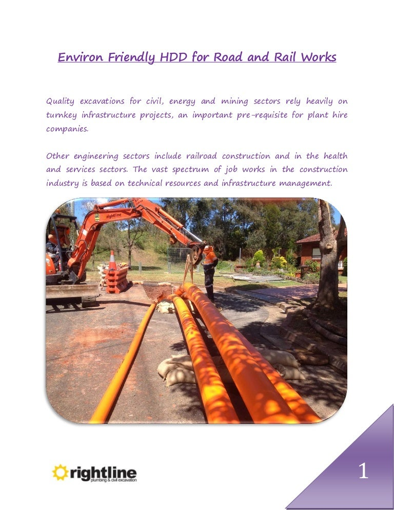Environ Friendly HDD for Road and Rail Works