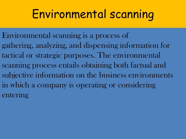 process of environmental scanning