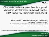 Cheminformatics approaches to support chemical identification delivered via the EPA CompTox Chemicals Dashboard